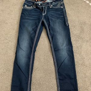 Rock Revival Sherry Dark Denim Straight Leg Jeans
